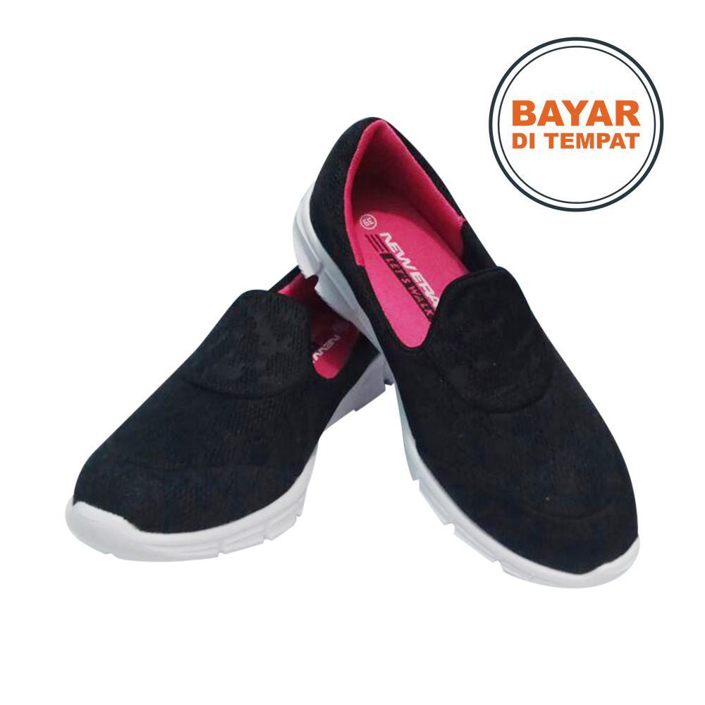 Amelia Olshop - New Era Sepatu Original / Sepatu Wanita / Sepatu Santai / Sepatu Slip on / Sepatu Ringan / Sepatu Murah / Sepatu New Era Marsya 37-40