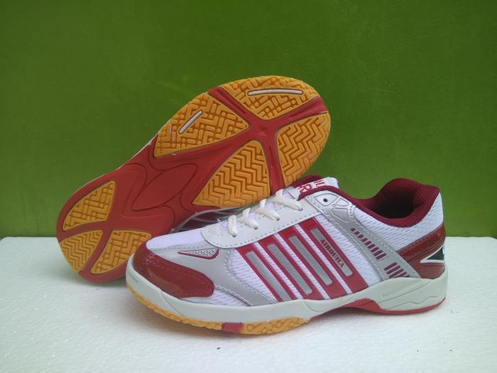 Sepatu Badminton Bulutangkis Airquila Red Original Terlaris di Lazada