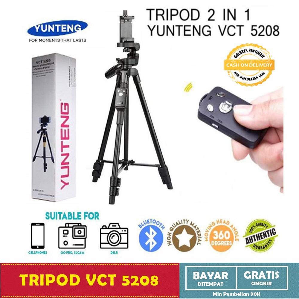 ... Cable + Free Fisheye. Source · Tripod Bluetooth 2 in 1 - Tripod YUNTENG VCT 5208 - Standing Hp & Camera +
