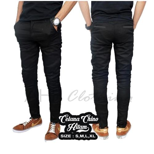 Celana Panjang Chino/ Chinos/ Cino Pria/Cowok - Hitam