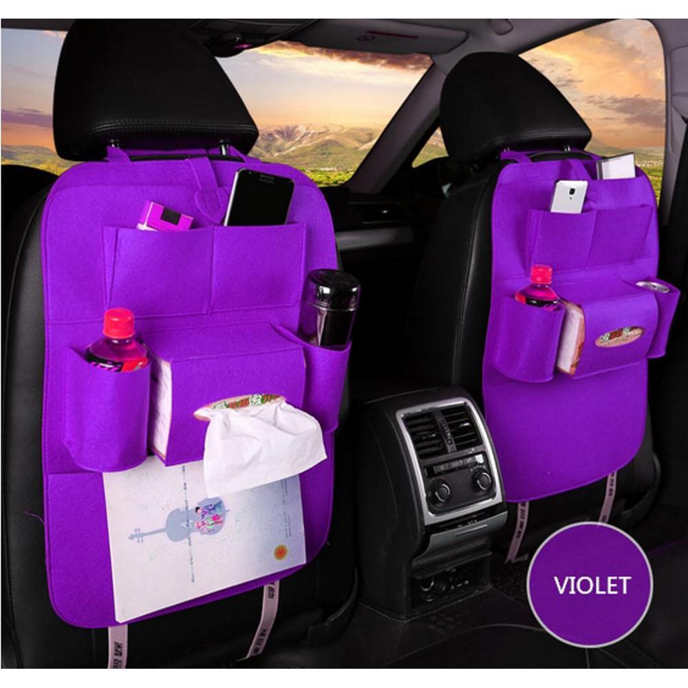 Car Seat Organizer Tas Mobil Multifungsi dipasang di Belakang Jok - 1pcs