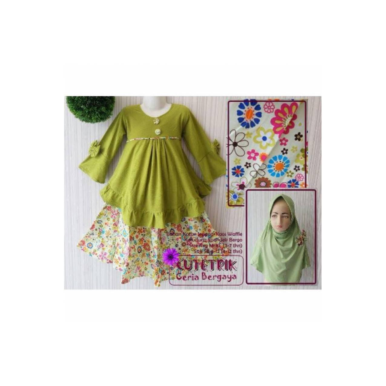 Best Seller Setelan kulot anak cutetrik baju muslim anak perempuan