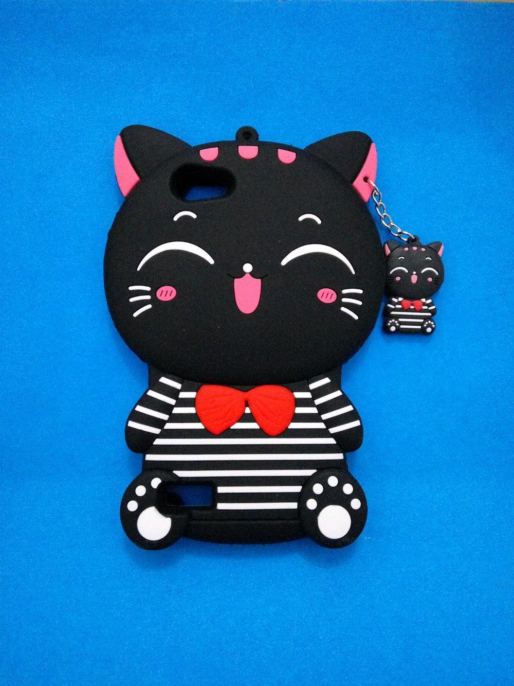 OPPO A33/NEO7 Case Softcase Boneka Karakter Kucing 3D Image