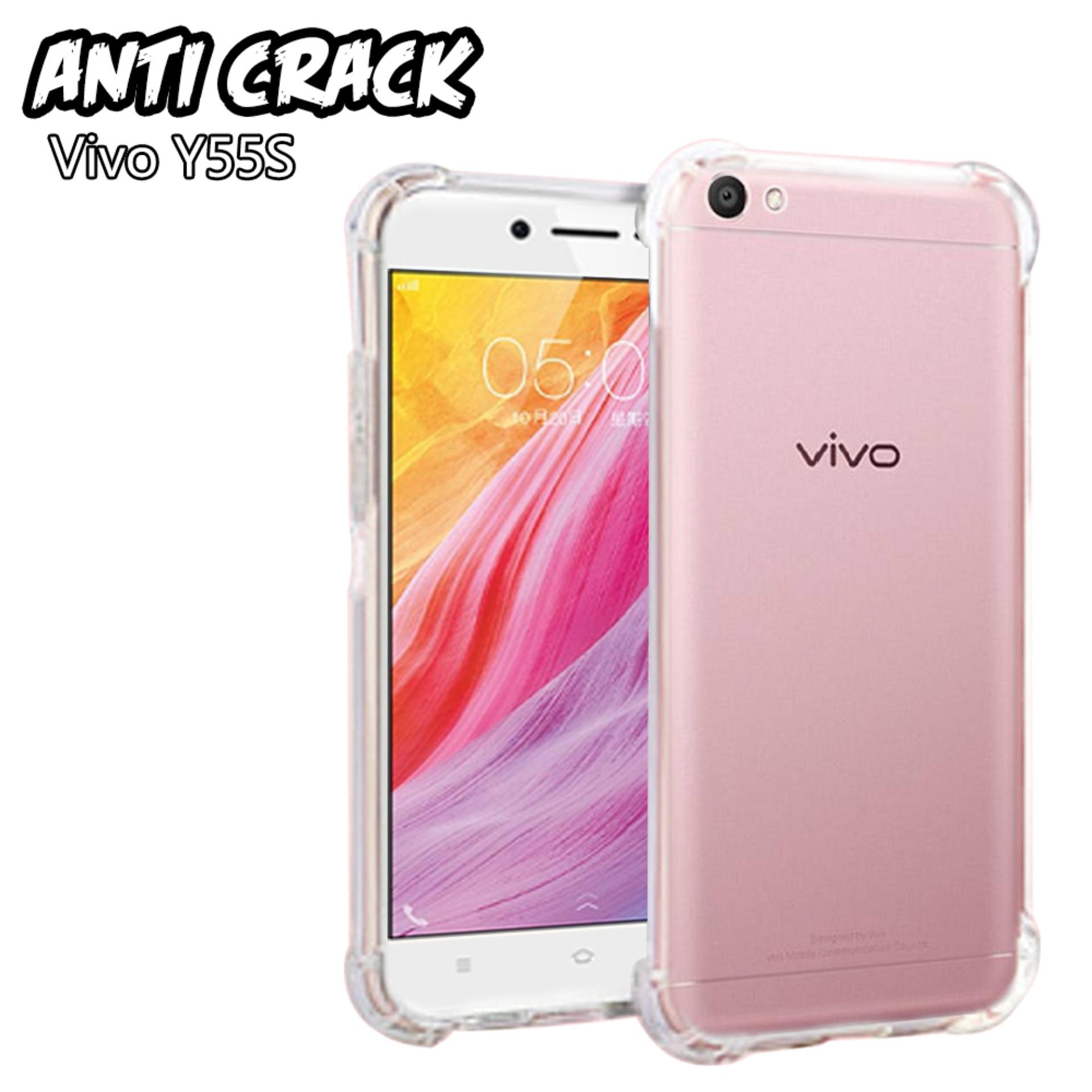 Case Anti Crack Vivo Y55S Ultra Thin Anti Shock Jelly Silikon Shockproof Softcase Azora - Bening