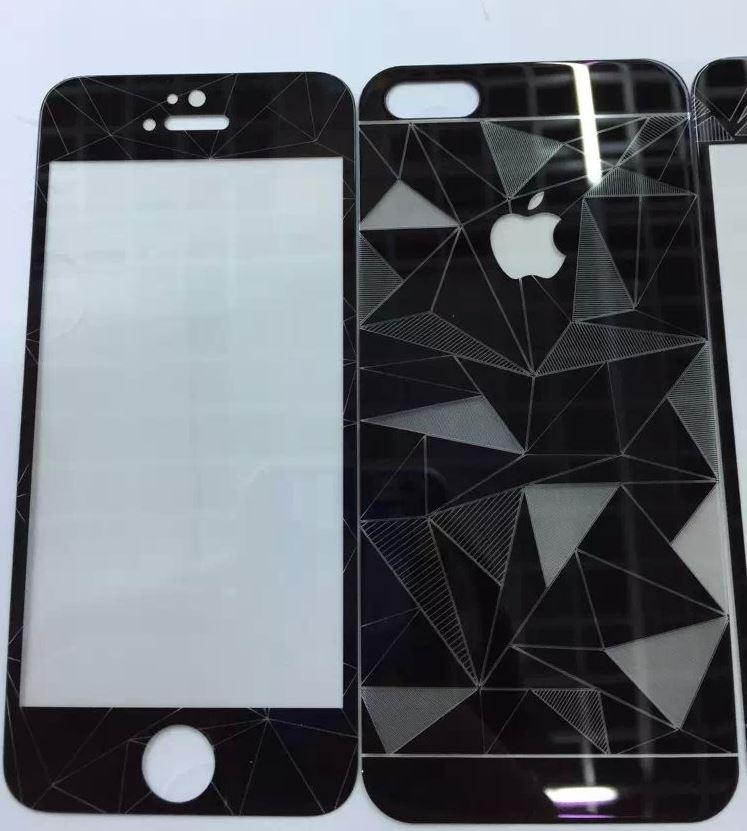 Aldora Tempered Glass iPhone 6 3D Motif Diamond 360 Series Premium Quality Packing Mika + Bubble Tebal