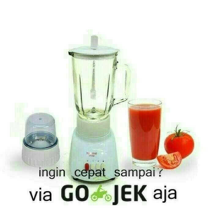 [ GARANSI 100 % ] PROMO Blender National Omega 2 in 1 Pisau Stainless Steel Anti Karat @ blender philips / blender miyako / blender murah / blender cosmos / blender mini / blender portable / blender tangan / blender philips promo daging manual beauty