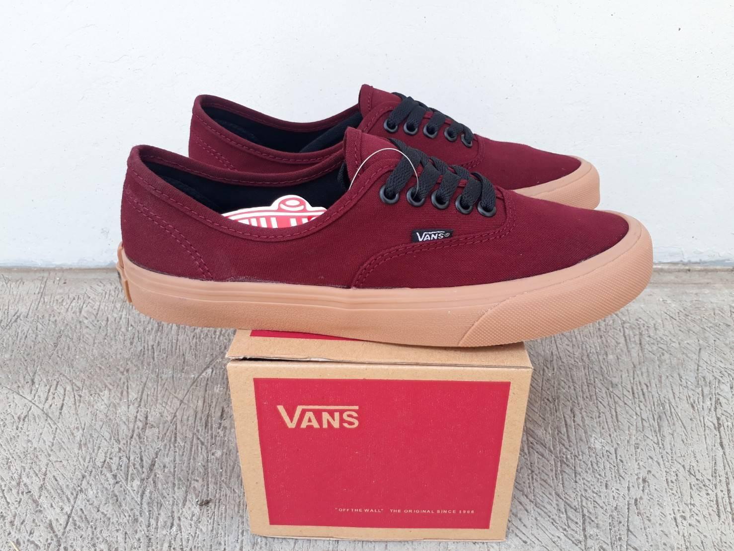 sepatu vans authentic maroon gum wafle ifc