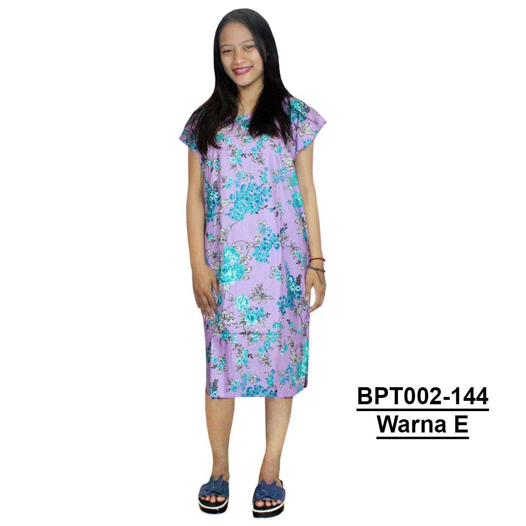 Dress Santai, Midi, Atasan Batik - Motif Bunga - (BPT002-144) Batikalhadi Online