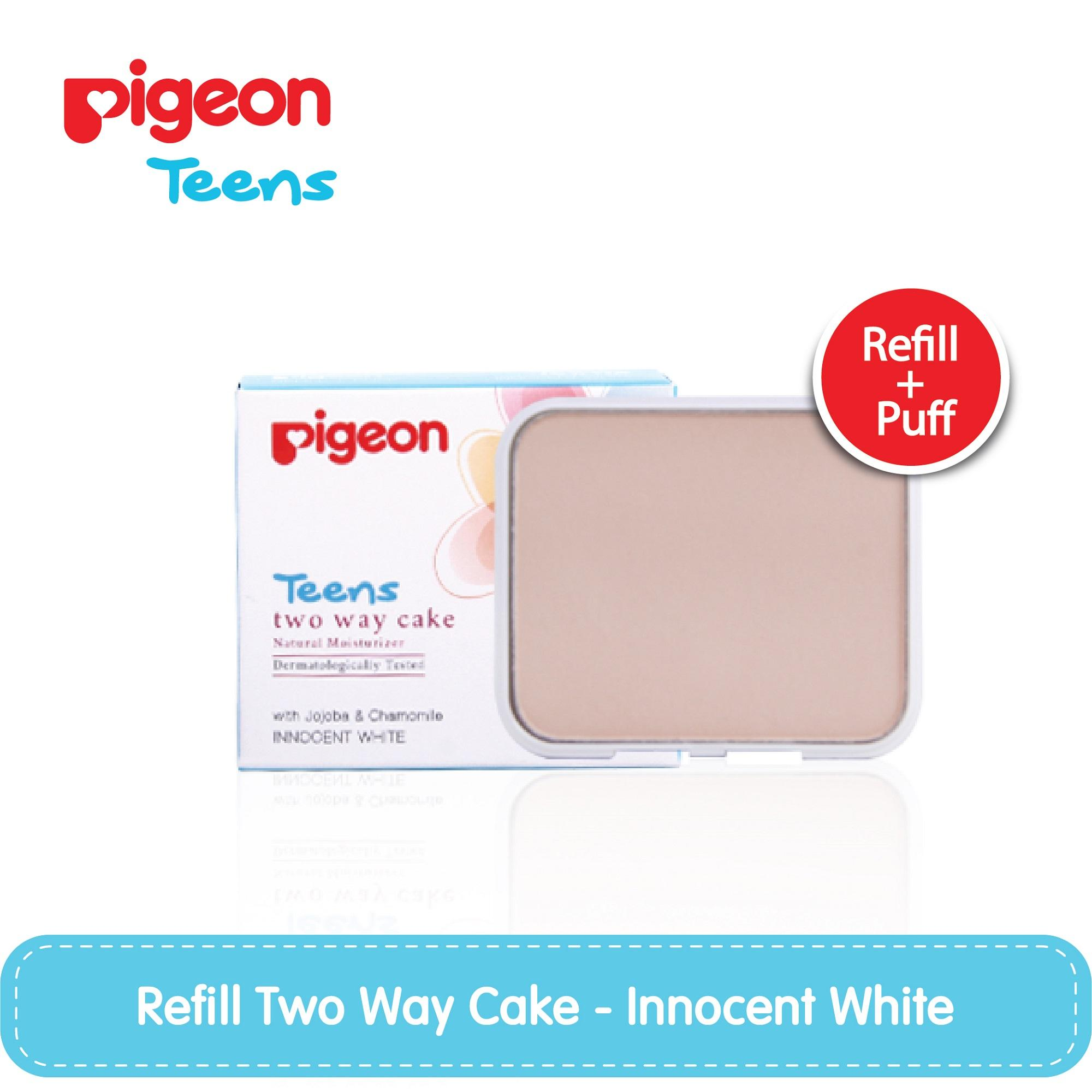 PIGEON Refill Two Way Cake Innocent White 14Gr / Bedak Remaja - PGT0022
