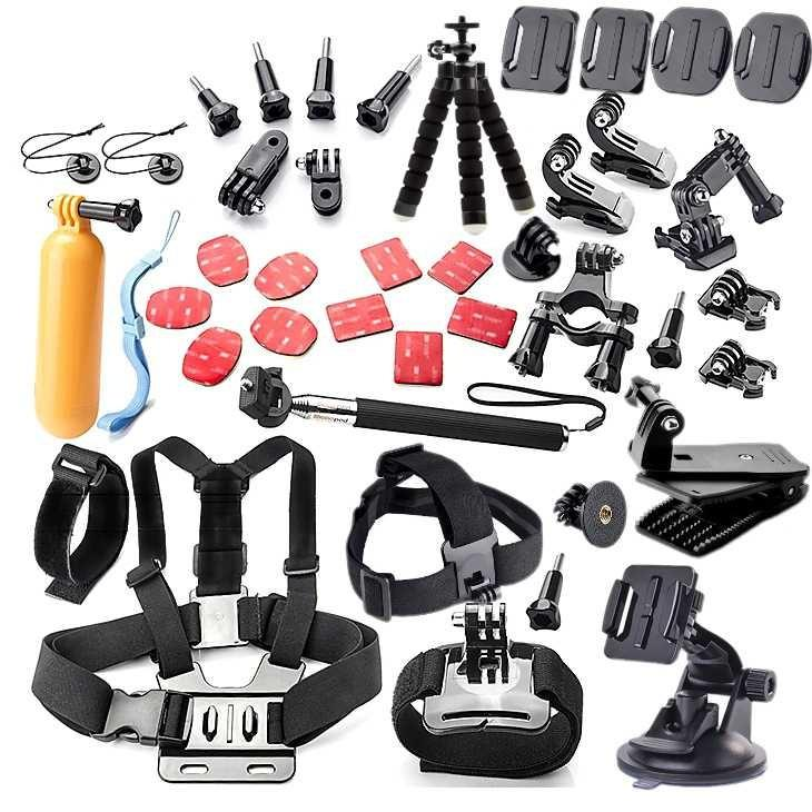 Aksesoris Kamera Aksi Full Set GoPro Xiaomi Yi Lengkap Berkualitas Serbaguna Action Camera Accessories Mulifungsi Monopod Chest Mount Headband Tripod Baut-baut Go Pro Suction Cup Mobil Perlengkapan Audio Video Vlog Foto Fotografi s2267 - Multicolor