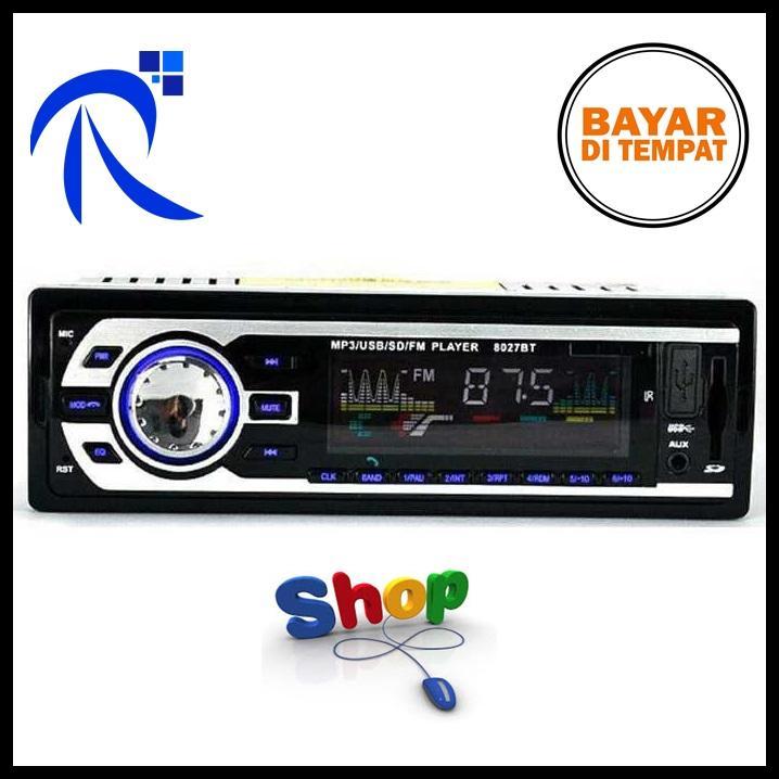 Rimas Tape Audio Mobil Multifungsi Bluetooth USB MP3 FM Radio - Black / Hitam Pemutar Lagu Musik Mu