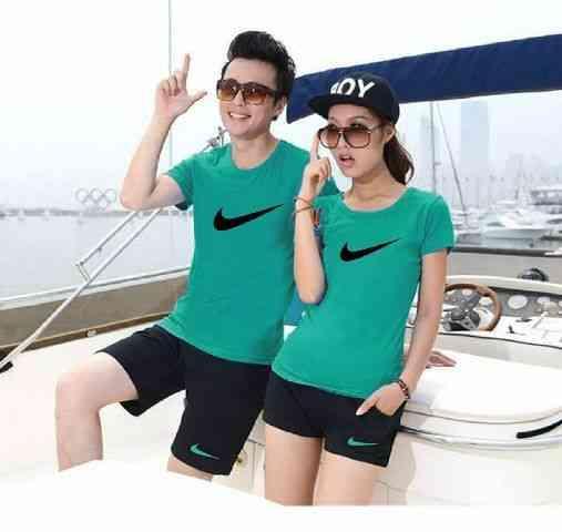 [Cp St Nike Tosca Black LT] pakaian setelan couple tosca