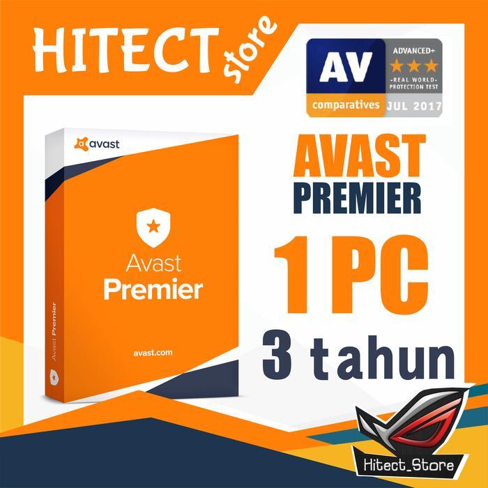 (Promo) Antivirus Avast Premier 2018 1Pc 3 Tahun - ready