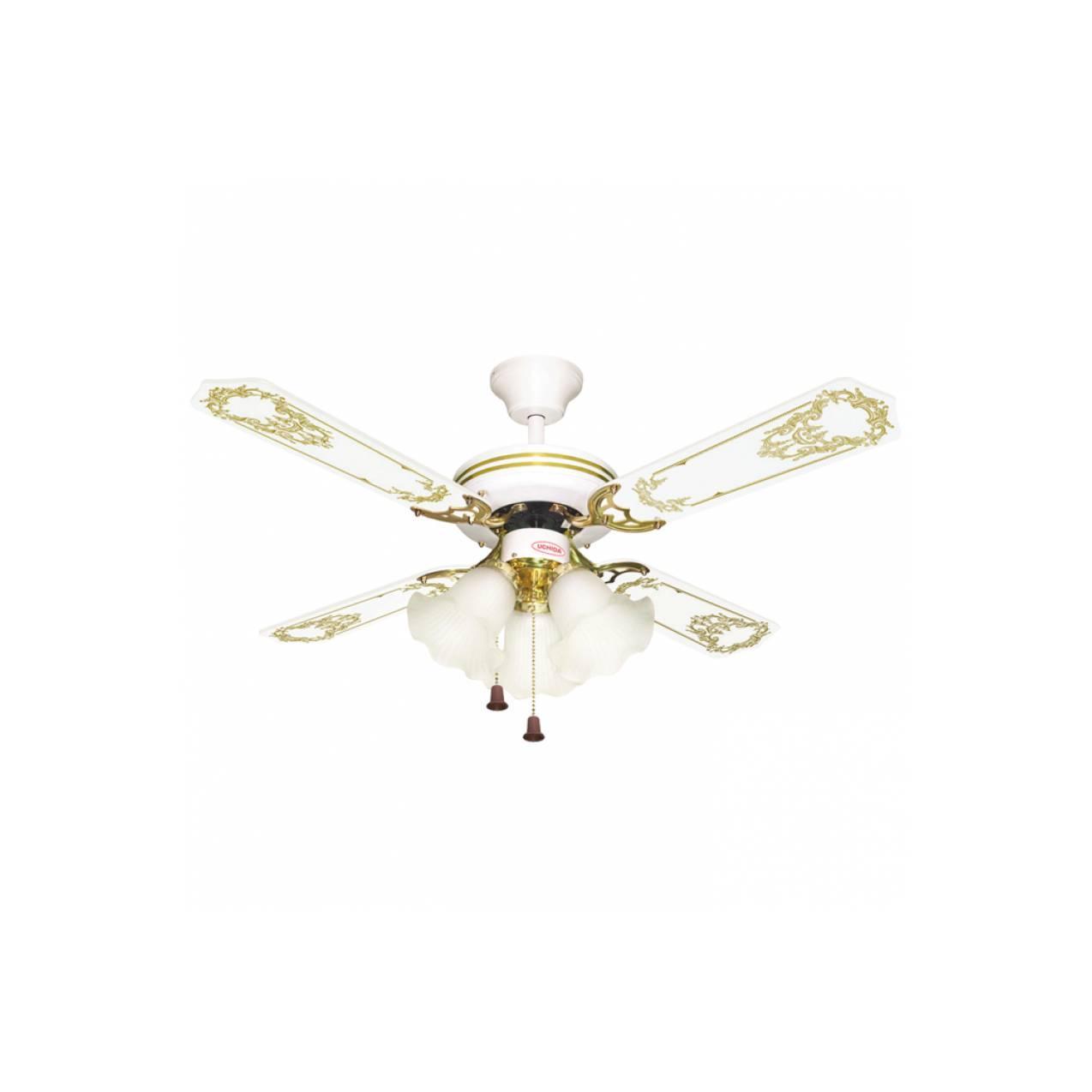Uchida - Ceiling Fan 42 inch Putih 3 Lampu CF125