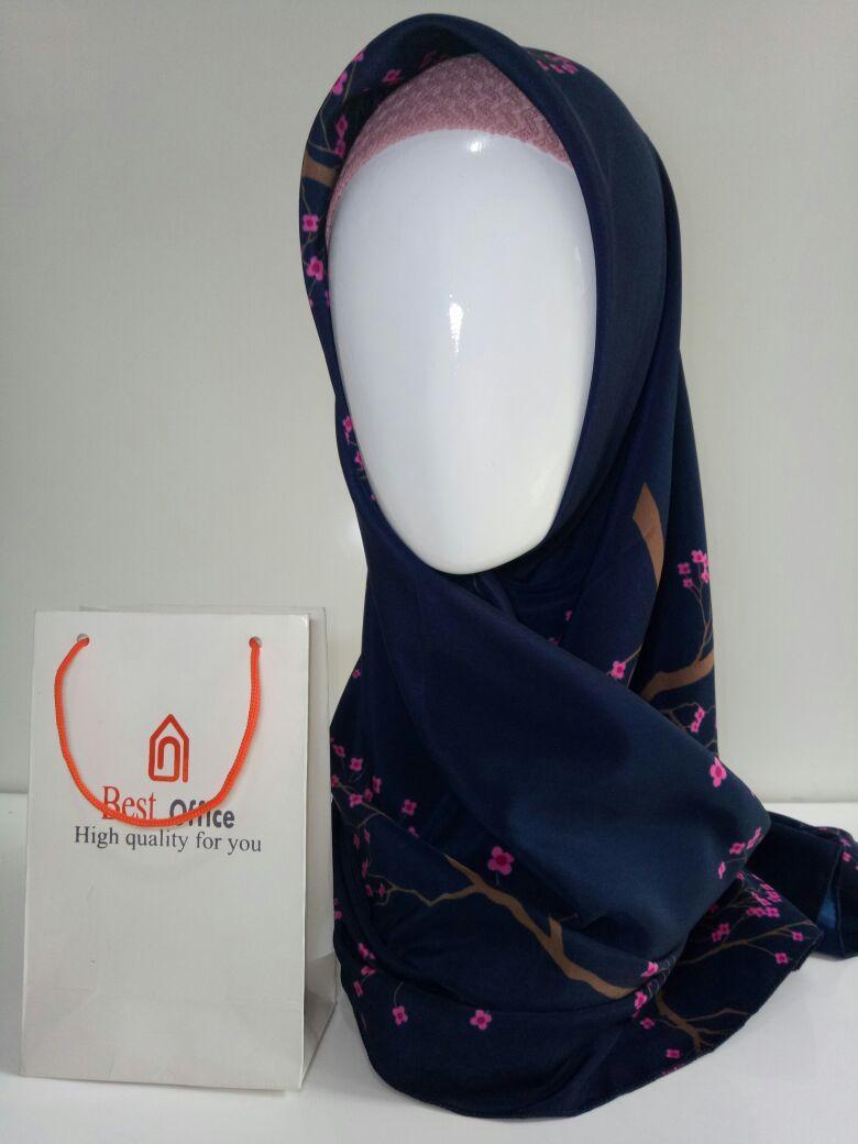 Jilbab Segiempat motif AH0017 Best Office  Hijab  Jilbab  Kerudung