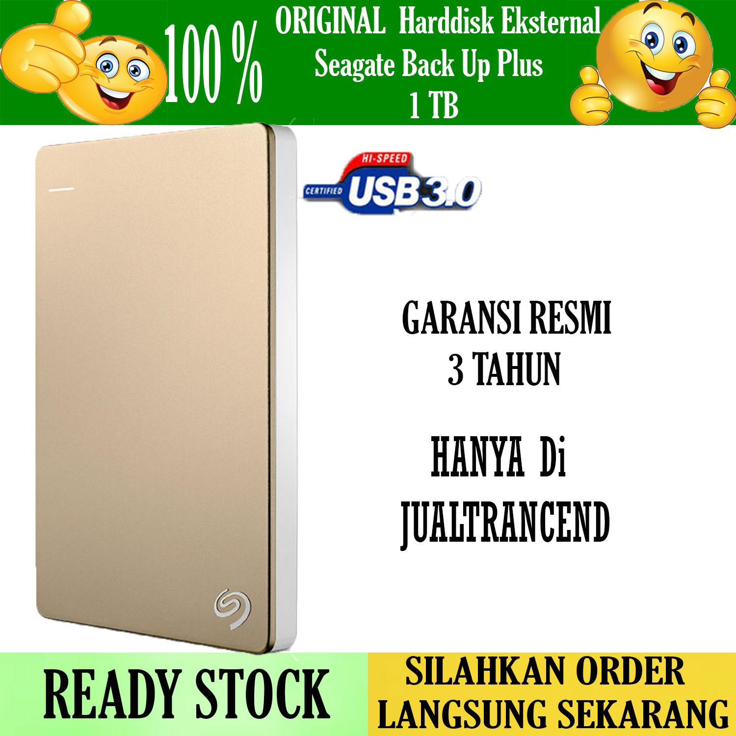 Seagate Backup Plus Slim 1TB - HDD - HD - Hardisk External 2.5 Gold