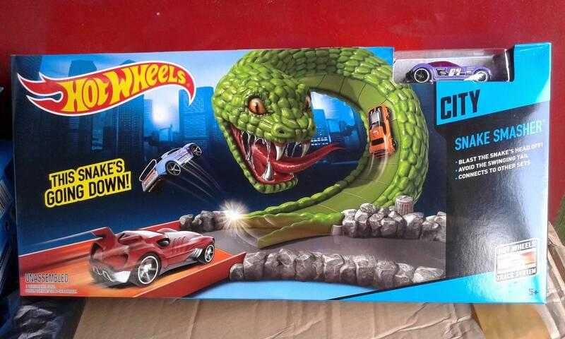 Gansatoy hot wheels track snake smasher gnz 3342