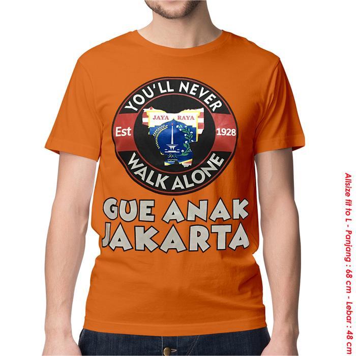 KAOS BAJU DISTRO BOLA INDONESIA - PERSIJA GUE ANAK JAKARTA