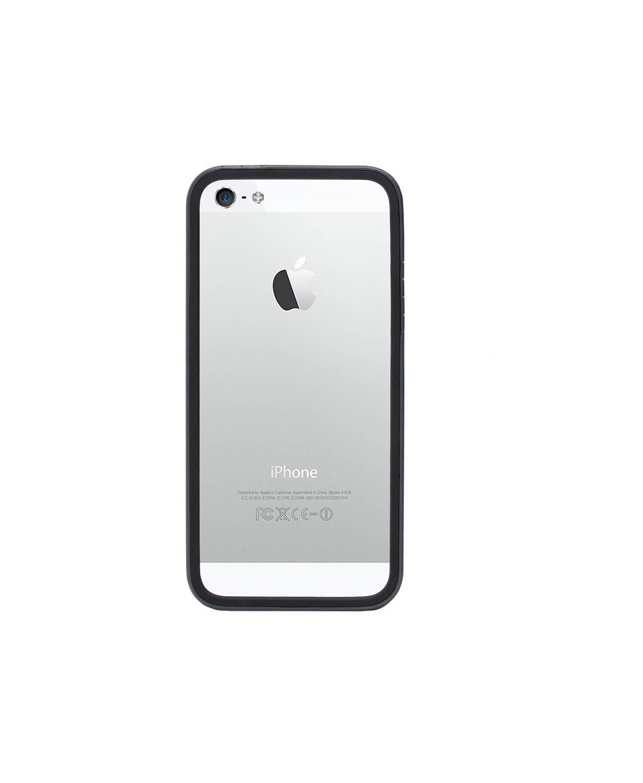 Colorant iPhone 5 B1 Bumper Full Set - Silver/Black [Packing Rusak]