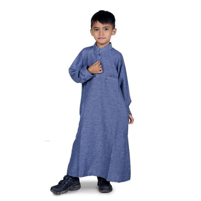Baju Muslim Anak Laki Laki Gamis Koko - Biru Misty KGIB01
