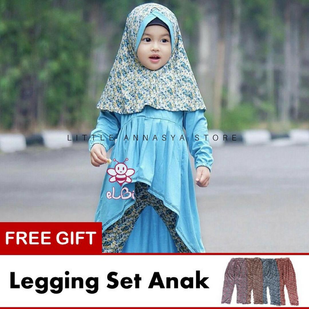 eLBi - Baju Muslim Anak Perempuan / Baju Muslim Balita Perempuan / Gamis Anak / Baju Muslim Anak / Baju Muslim Bayi Perempuan / Baju Pesta Anak Muslim / Farah Series