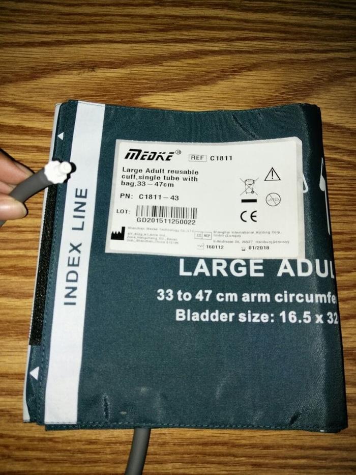 Kode :C1811-43 MEDKE Manset /NIBP Cuff Single Hose for Large Adult.