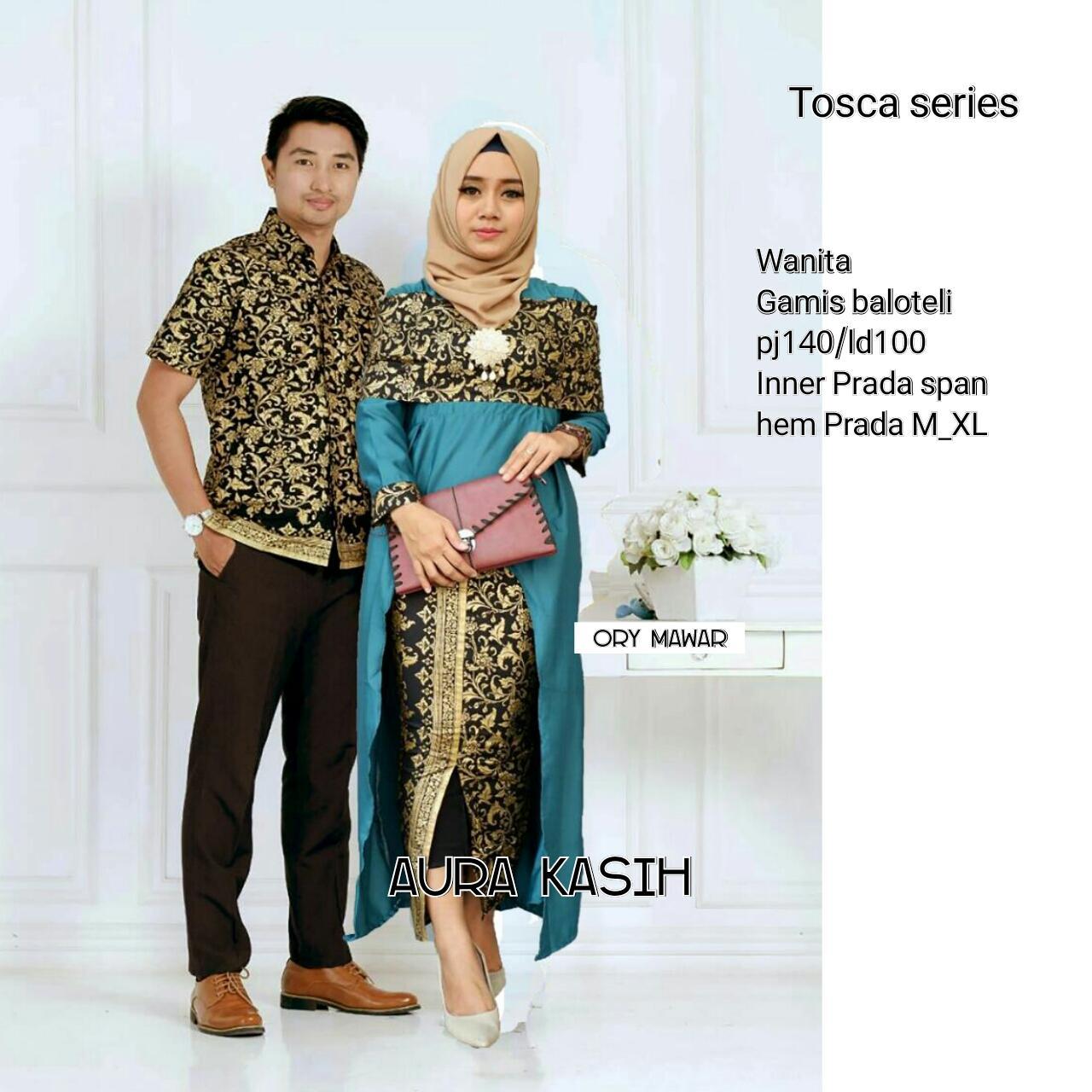 Batik Couple / Batik couple Modern / Baju Batik Couple Sarimbit / Dress / Dress Batik / Batik Gamis / Baju Batik Pria Aura Kasih