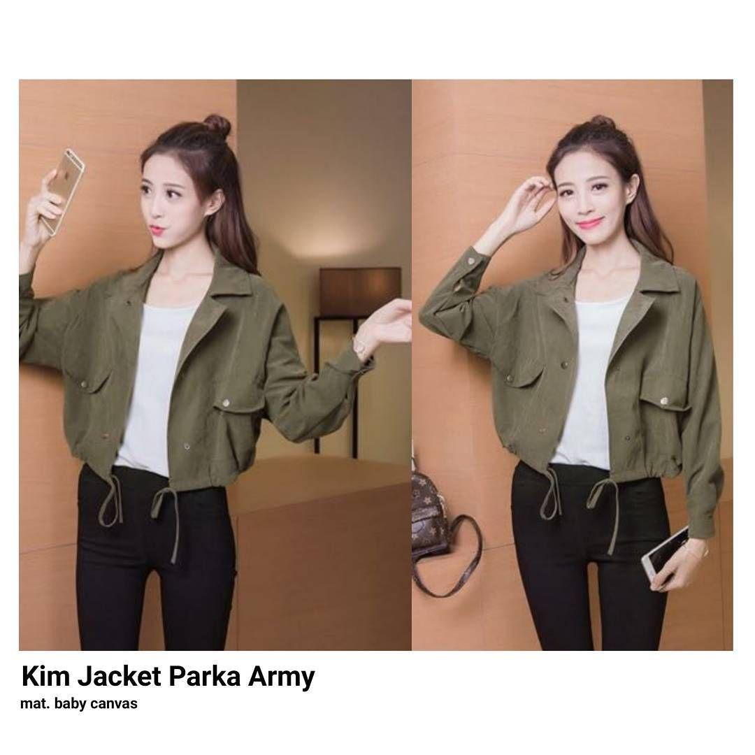 KIM JAKET PARKA WANITA - CASUAL AND KOREAN STYLE