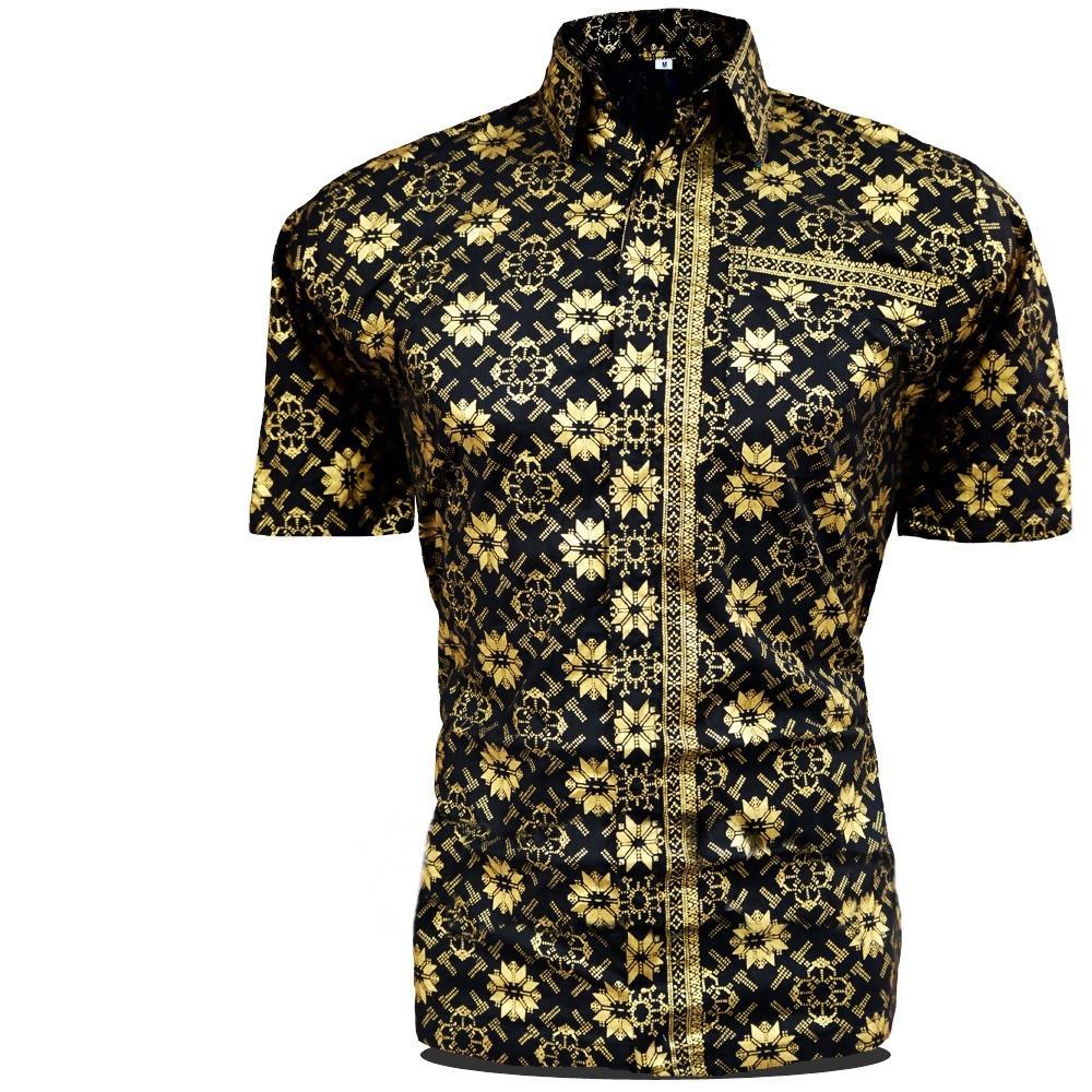 Batik Pekalongan - Motif Bintang Emas - Kemeja Batik Pria / Hem Batik / Kemeja Batik Lengan Pendek / Baju Batik / Pakaian Pria / Fashion Pria / Baju Cowok / Batik Pria / Batik Modern / Kemeja Kondangan / Kemeja Batik Cowok / Baju Hem Batik / Batik Murah