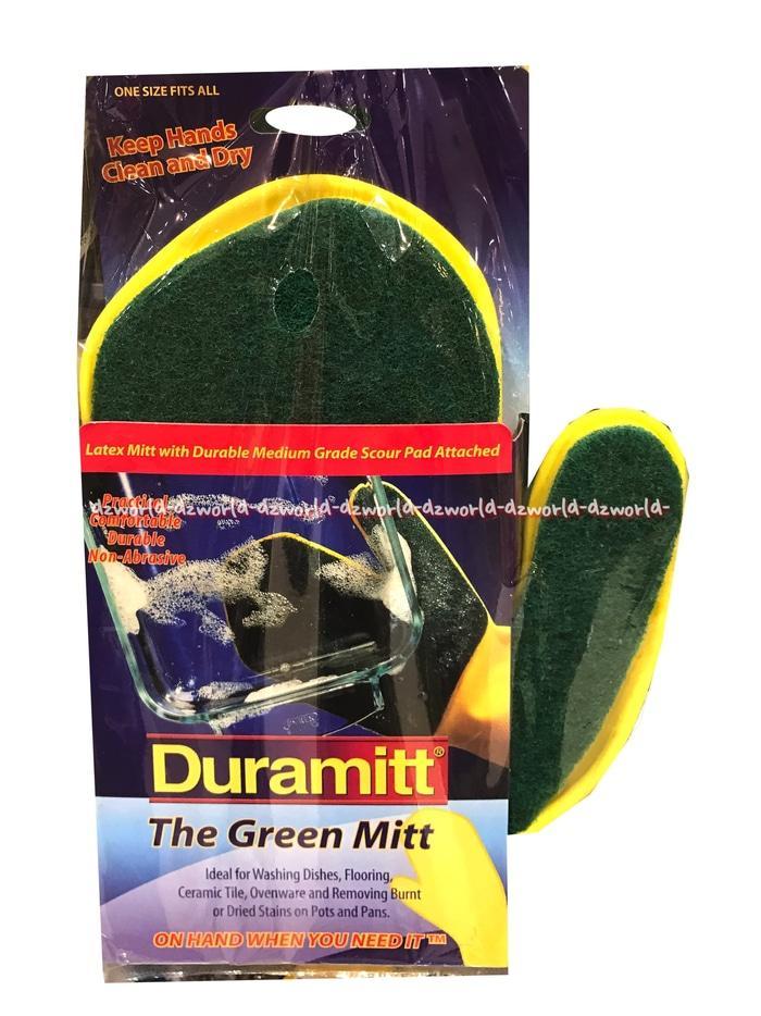 Duramitt The Green Mitt Sarung Tangan Dengan Spons Untuk Cuci Piring