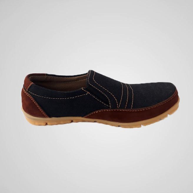 Sepatu Sneaker Kasual Pria Limited Edition – Choco Denim