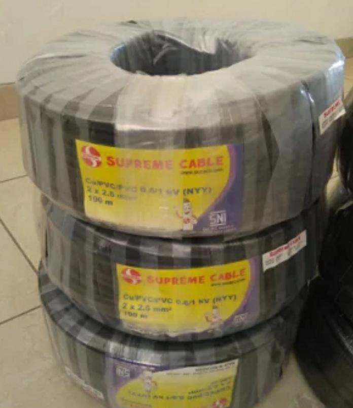 Kabel Listrik NYY 2x2,5 mm2