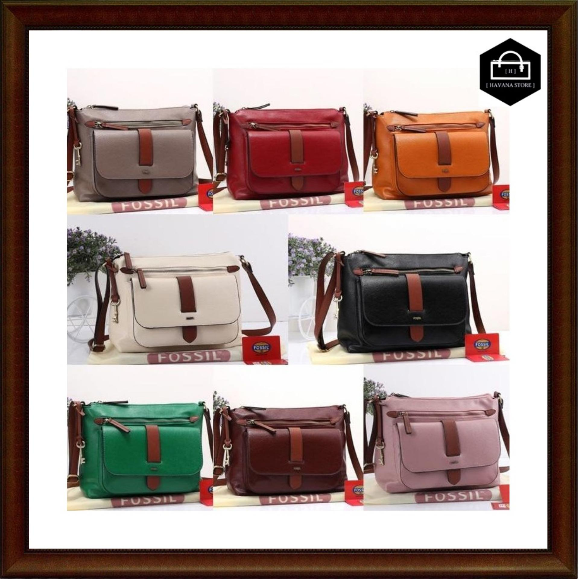 Buy Sell Cheapest Fossil Kinley Small Best Quality Product Deals Crossbody Brown Tas Togo Semi Premium 629 Bag Branded Mirror