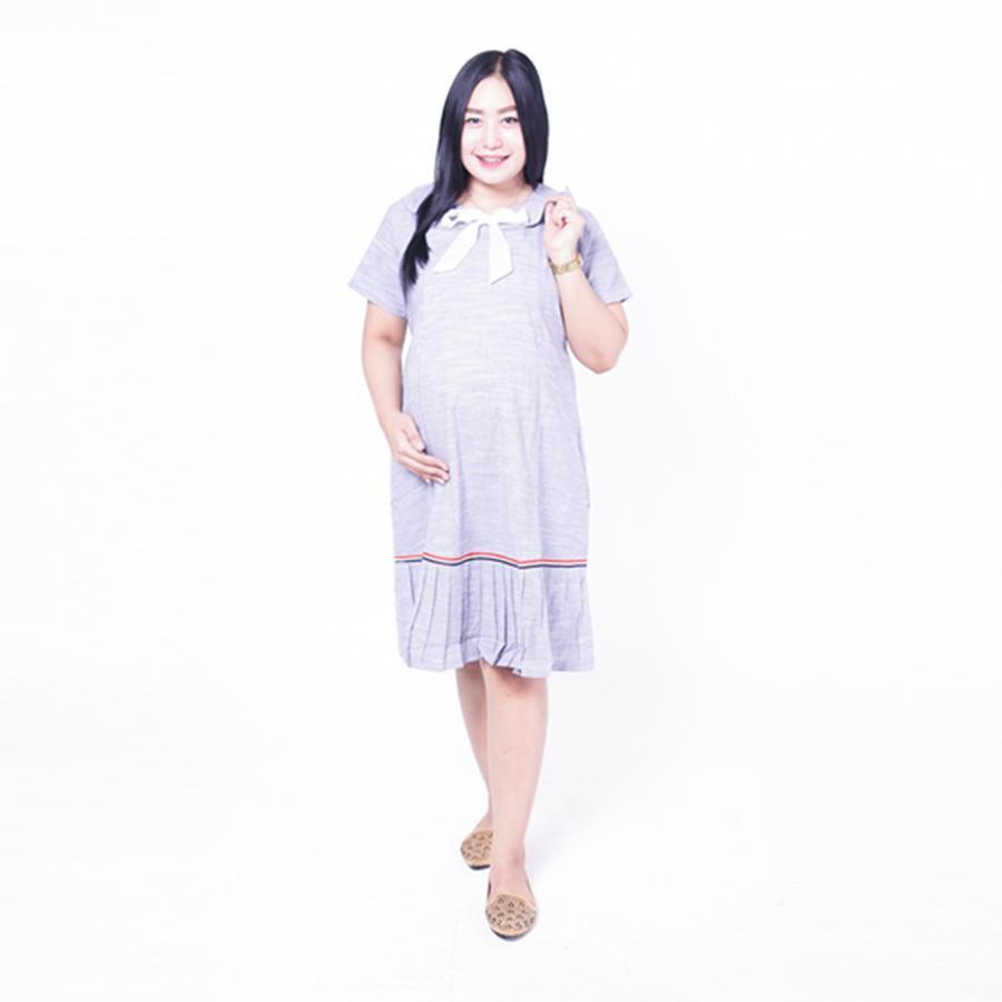 Ning Ayu Dress Ibu Hamil Menyusui Pita Tengah Sailormoon Dress - DRO 928 / Baju Hamil untuk kerja Lengan Panjang / Baju Hamil Seksi / Baju Hamil Gamis / Baju Menyusui Modis / Baju menyusui Murah / Baju Menyusui Terbaru / Baju Menyusui Keren