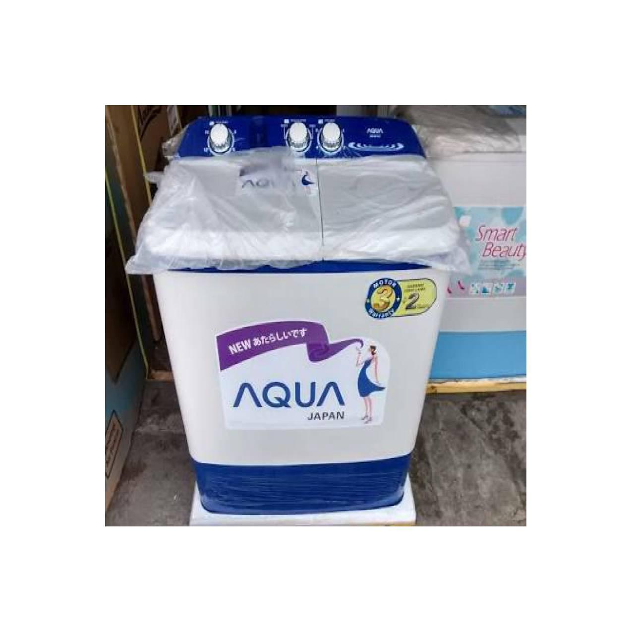 AQUA QW-871XT Mesin Cuci 2 Tabung 8kg (SANYO Berubah jadi AQUA)