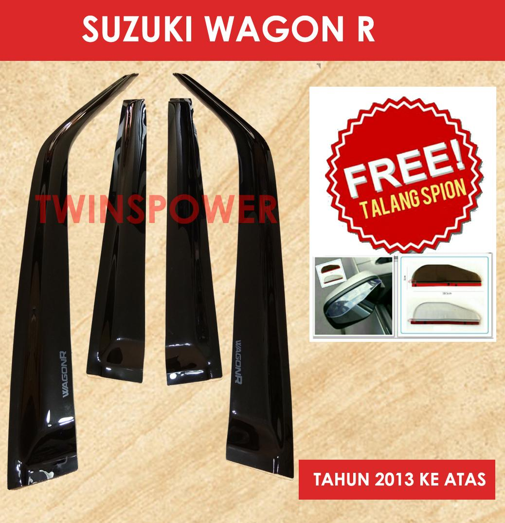 Pelindung Talang Air Mobil Spion Fender Kaca Tambahan Kap Mesin Depan Rush Terios Ori Suzuki Karimun Wagon R Free