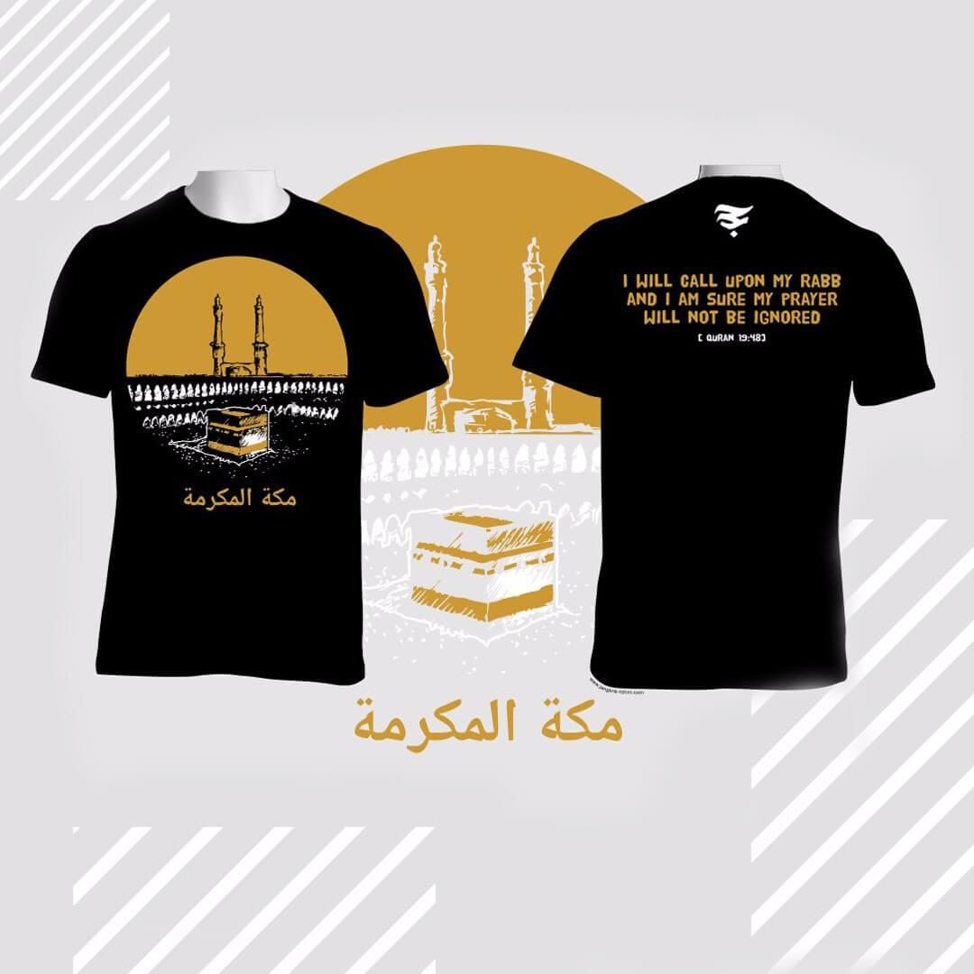WOLSFASHION COD - Kaos Distro Islami Baju Dakwah Alhajj Merch Mekah AM003