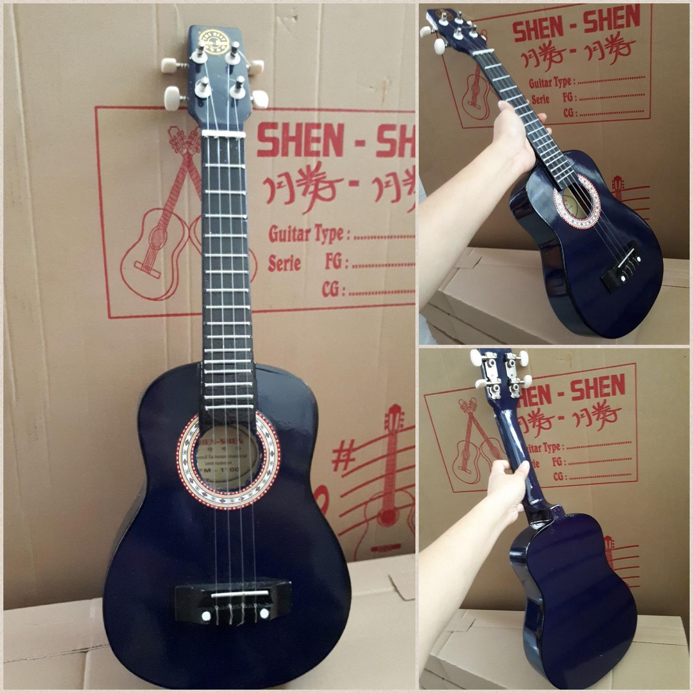 Fox- PROMO  Gitar Kentrung Ukulele Akustik IMPORT- GRATIS PICK- Packing Dus- Ukulelel Murah senar 4 Nylon-Gitar Kecil