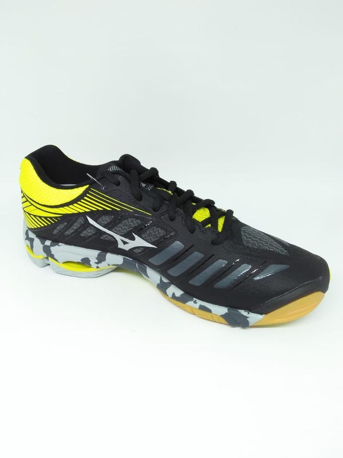 Hemat 10%!! Sepatu Volley Mizuno Original Wave Lightning Z4 Black Yellow  New 2018 – ready stock a4abb88203
