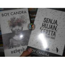 Paket 2 Buku Novel ( Sebuah Usaha & Senja , Hujan ) , By : Boy