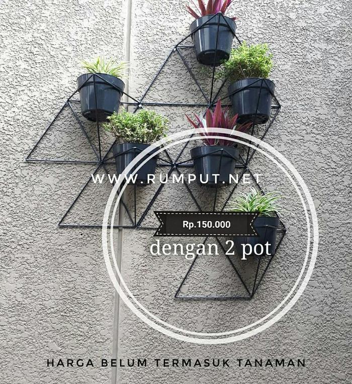 [ GARANSI 100% ] Geometric Standing Planter - Rak Pot Tanaman - Pot Dinding Pot Bunga @ rak buku di