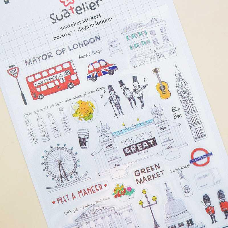 BEST SELLER Suatelier London Diary Deco Stickers / Sticker Hiasan Buku HARGA TERMURAH