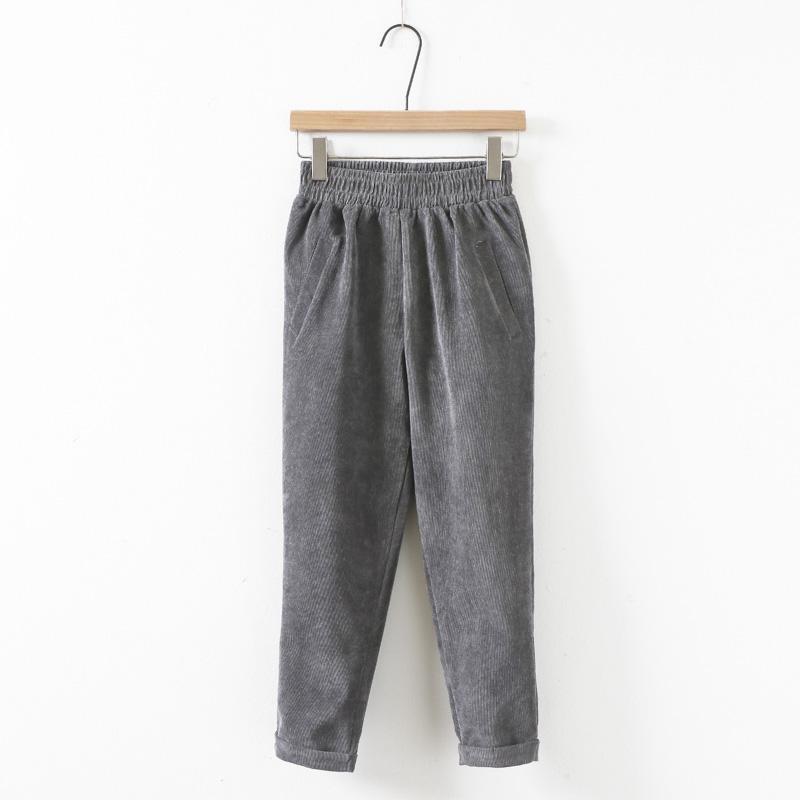 Korduroi Lee Jeans CELANA Wanita 2018 Model Baru Celana Santai Siswa Perempuan Versi Korea Longgar Ketat