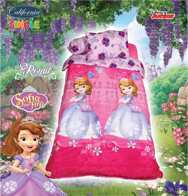 BEDCOVER SET CALIFORNIA SOFIA ROYAL SINGLE 120 No.3 DISNEY PRINCESS Exclusive