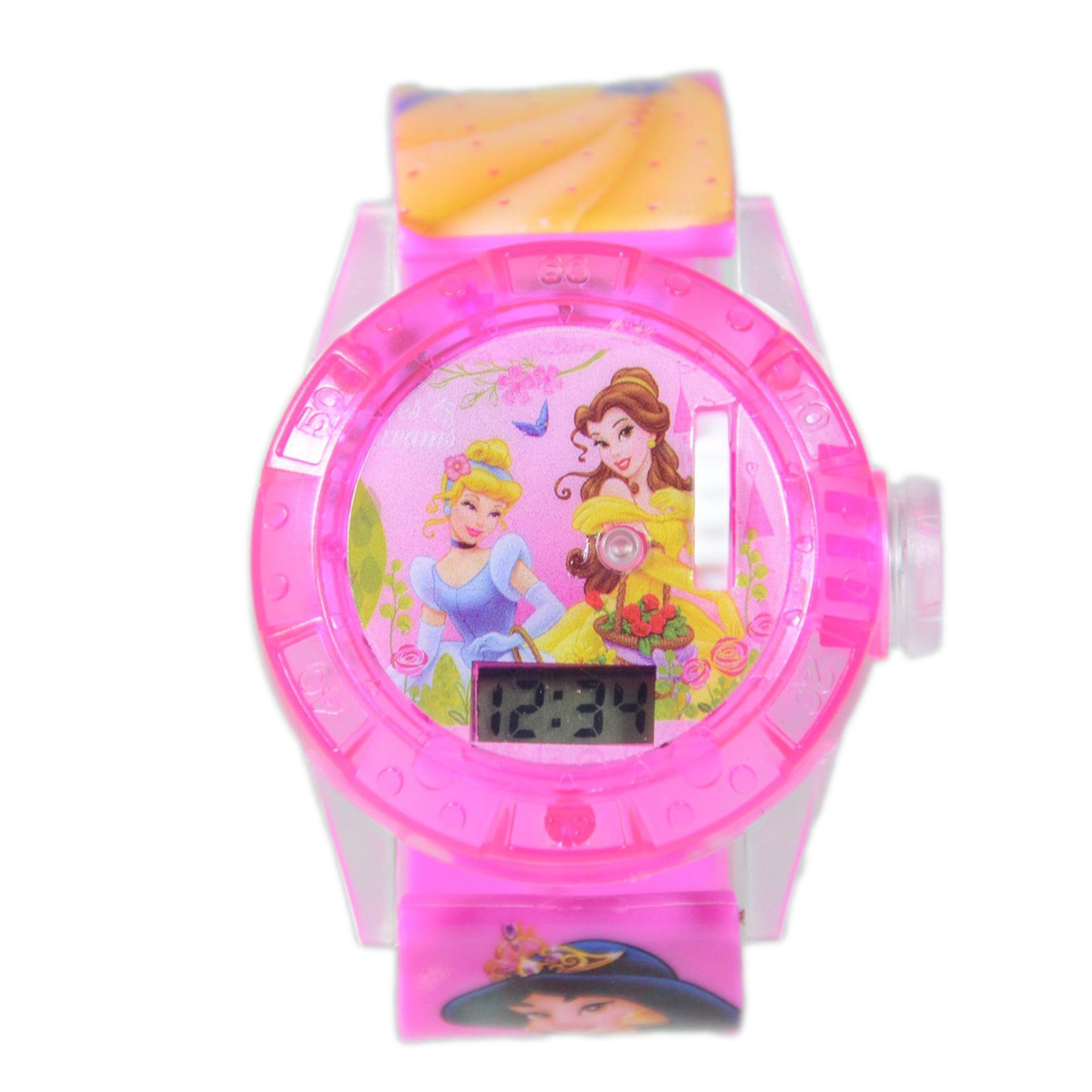 DnB COLLECTION Jam Tangan Projector Disney Princess - Dark Pink af2133e6ff