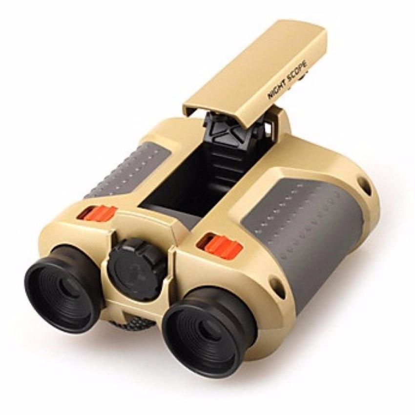 Teropong Teleskop Night Scope 4 X 30mm Binoculars With Pop-Up Light S5802 - Gold By Jumpa Jack.
