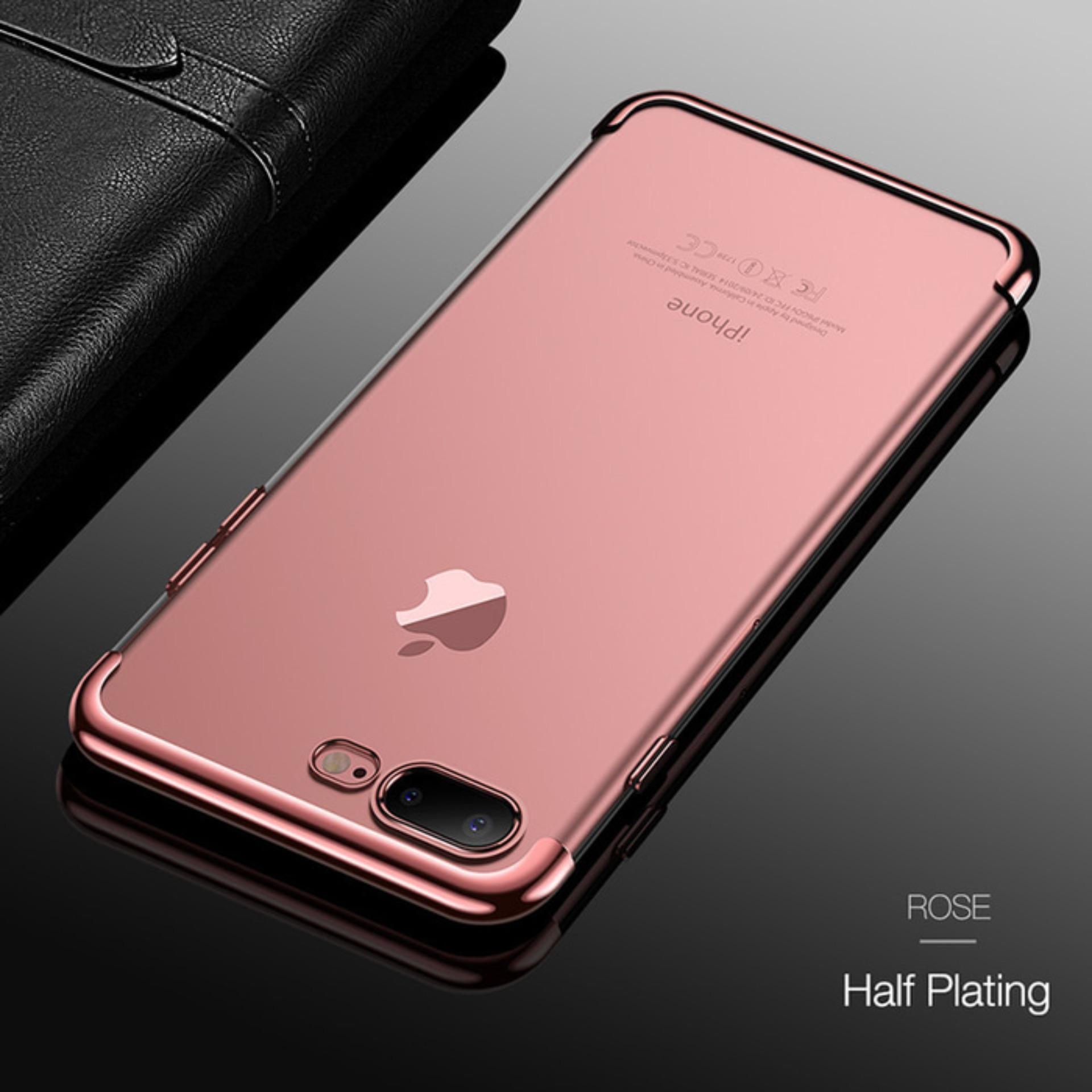 Softcase Neon Light Iphone 8 Plus / 8+ Case Silicon Casing List Warna - ROSE GOLD