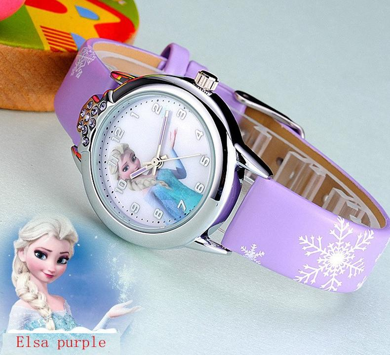 Jam Tangan Anak Perempuan Princess Elsa Anna Frozen Analog Cute Aksesoris Fashion Anak Wristwatch Writwatch Kids Accesories Leather Strap Kulit Kartun ...