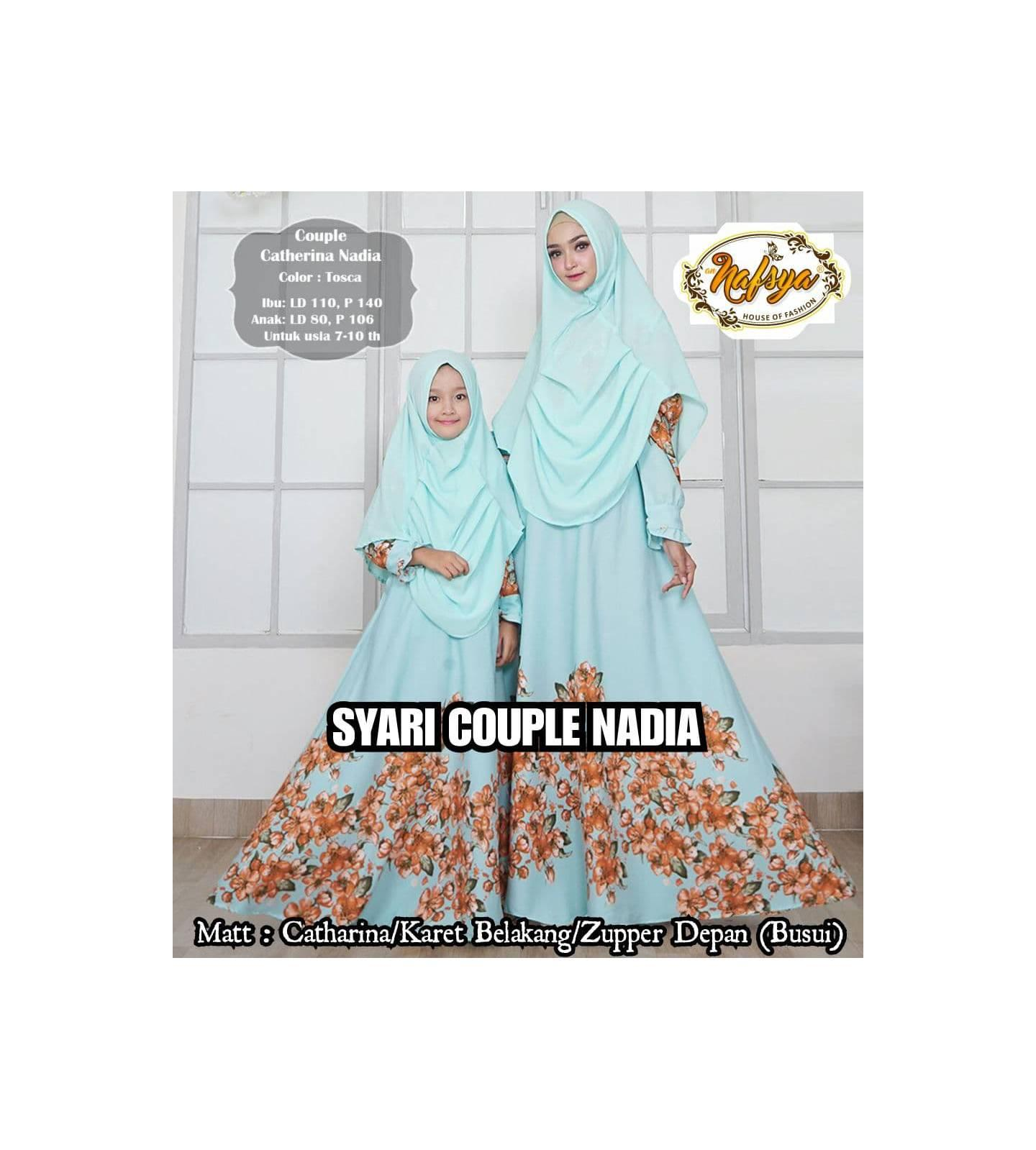 GAMIS SET COUPLE PREMIUM - NADIA - ORIGINAL
