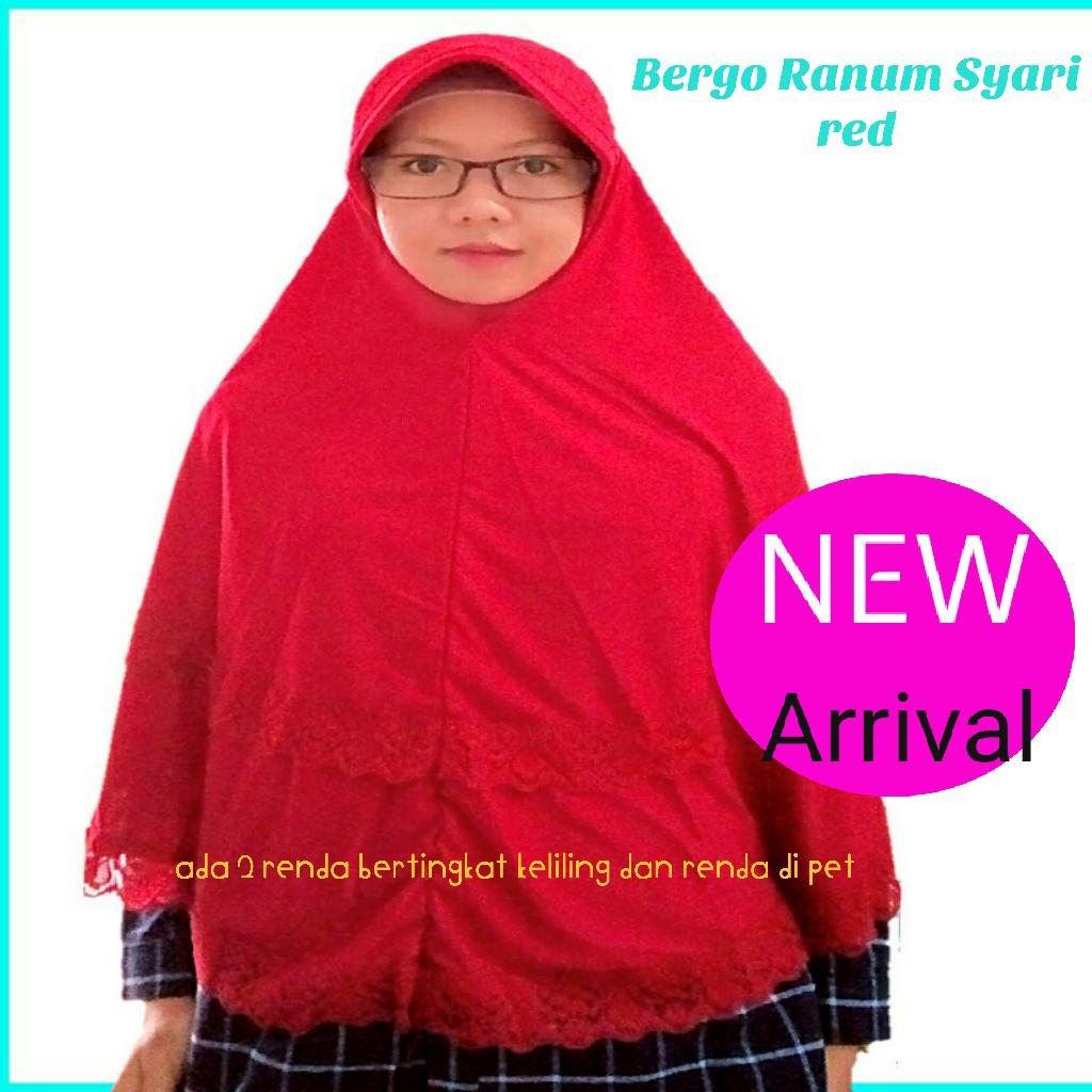 KhimarJumbo Simple Bergo Pet Antem Jumbo Besar Hijab Syari Khimar Jilbab Kerudung - tukiyem13